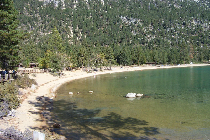 We stopped at a Nevada state park on the northeastern shore of the lake.  It had a nice beach area that we walked around.<br /> [Lake Tahoe]