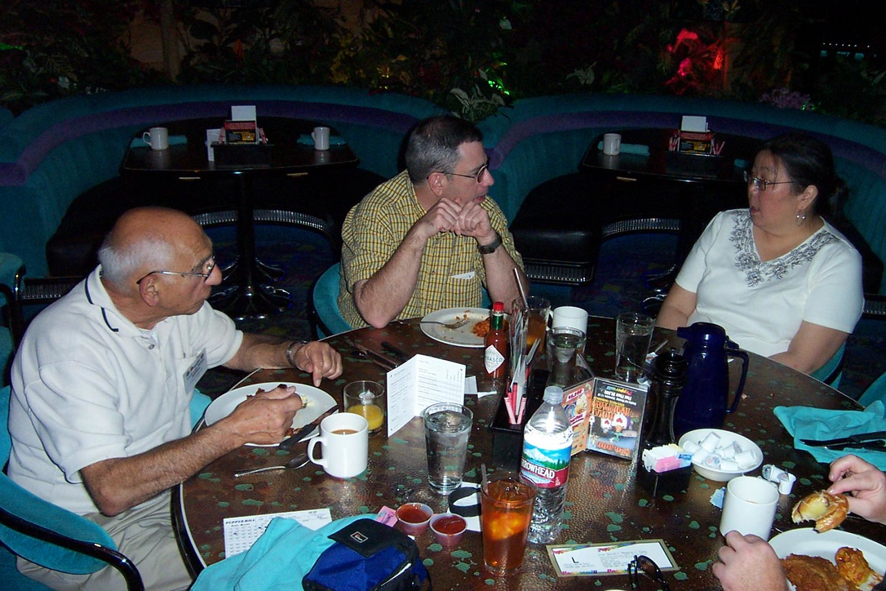 Lou, Dave and Kay at the Peppermill's Island Buffet.<br /> [Reno]