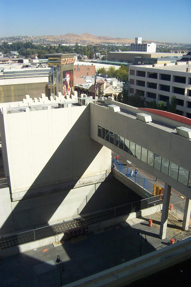 Here's the backside of Fitzgerald's bridge over the railroad trench.<br /> [Reno]