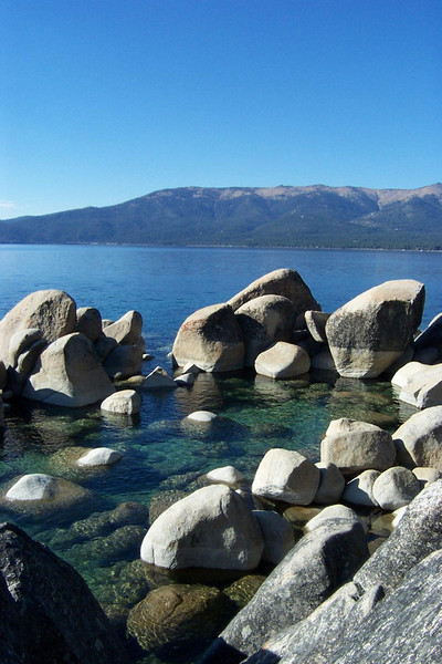 Don't the giant rocks in the water look cool?<br /> [Lake Tahoe]