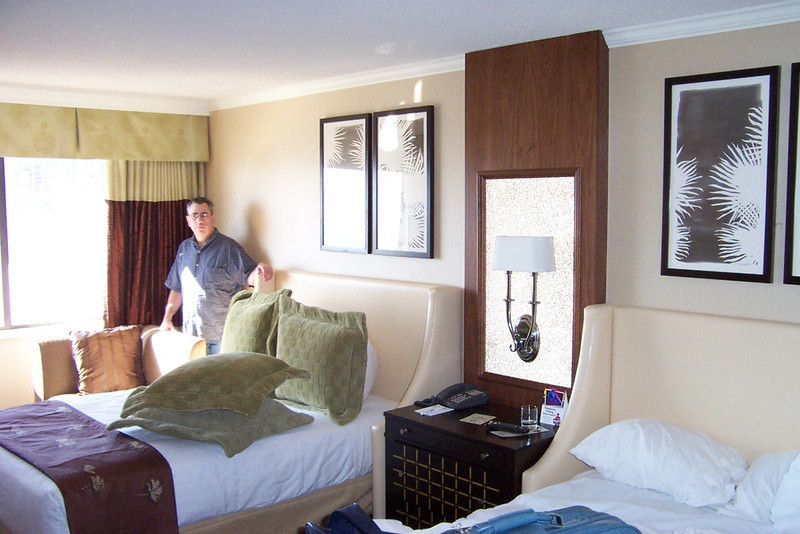 This is Dave's fancy West Tower room at Harrah's.  Mark and I had rooms over in Harrah's East Tower.<br /> [Reno]