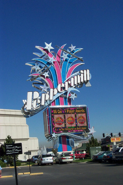 Back in Reno, the Peppermill is one of our favorite casinos!  It's about two miles south of downtown.