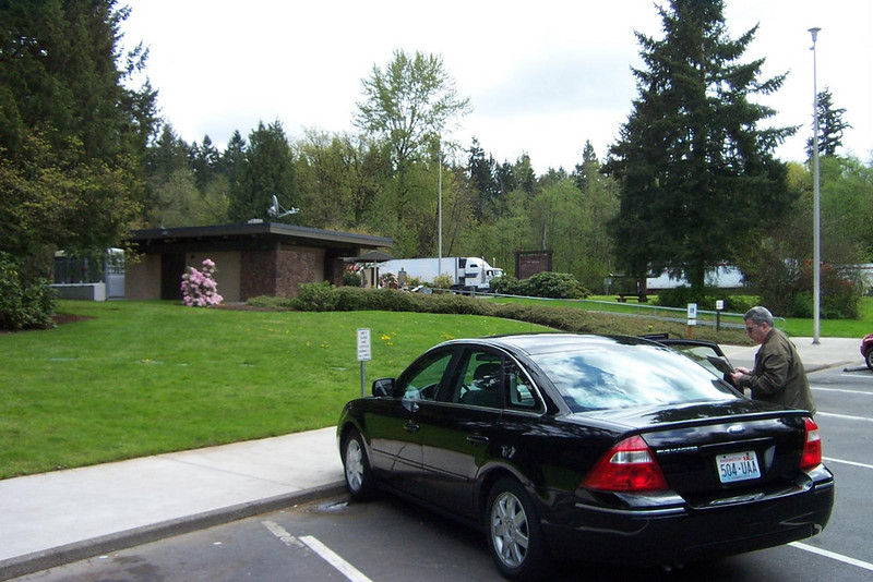 Our first stop. This rest area is just north of Vancouver, WA.<br /> [On the road to Reno]