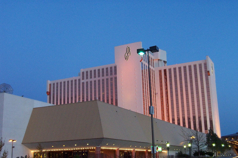 On the other side of downtown (close to the airport) is the Grand Sierra Resort.  This was originally the MGM Grand, and then the Reno Hilton.<br /> [Reno]