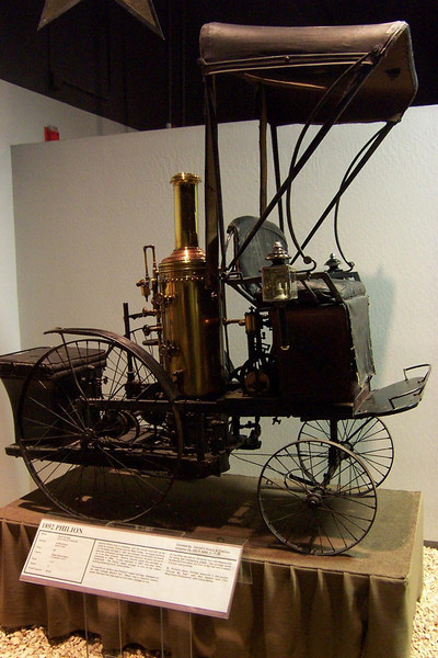 Here's an 1892 steam-powered Philion--one of the oldest self-powered cars in the world.<br /> [Reno - National Automobile Museum]