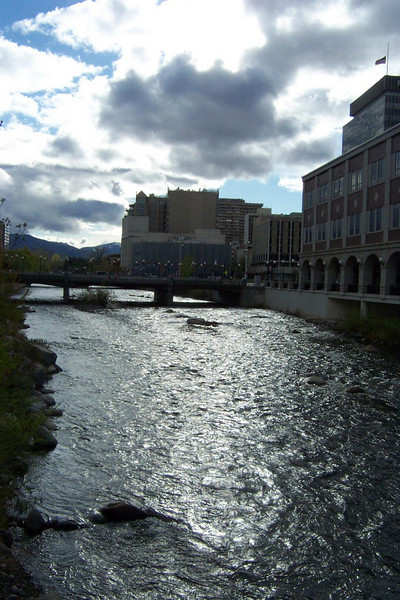 Since I've been coming here in the early 1990s, they've made some wonderful improvements to the area where the Truckee River flows through downtown.<br /> [Reno]