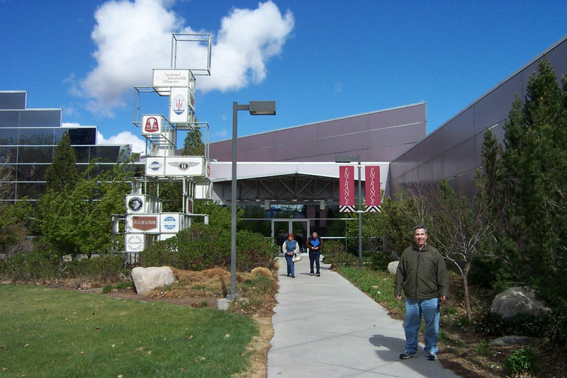 Dave is outside the museum's entrance.  Let's go check it out!<br /> [Reno - National Automobile Museum]