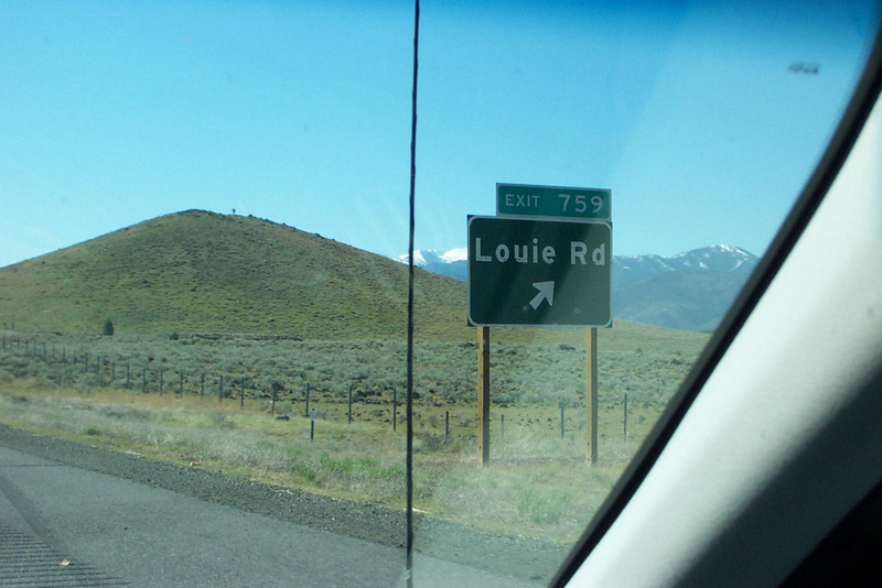 Hey, Lou--it's your road!<br /> [On the road to Reno, in northern California]