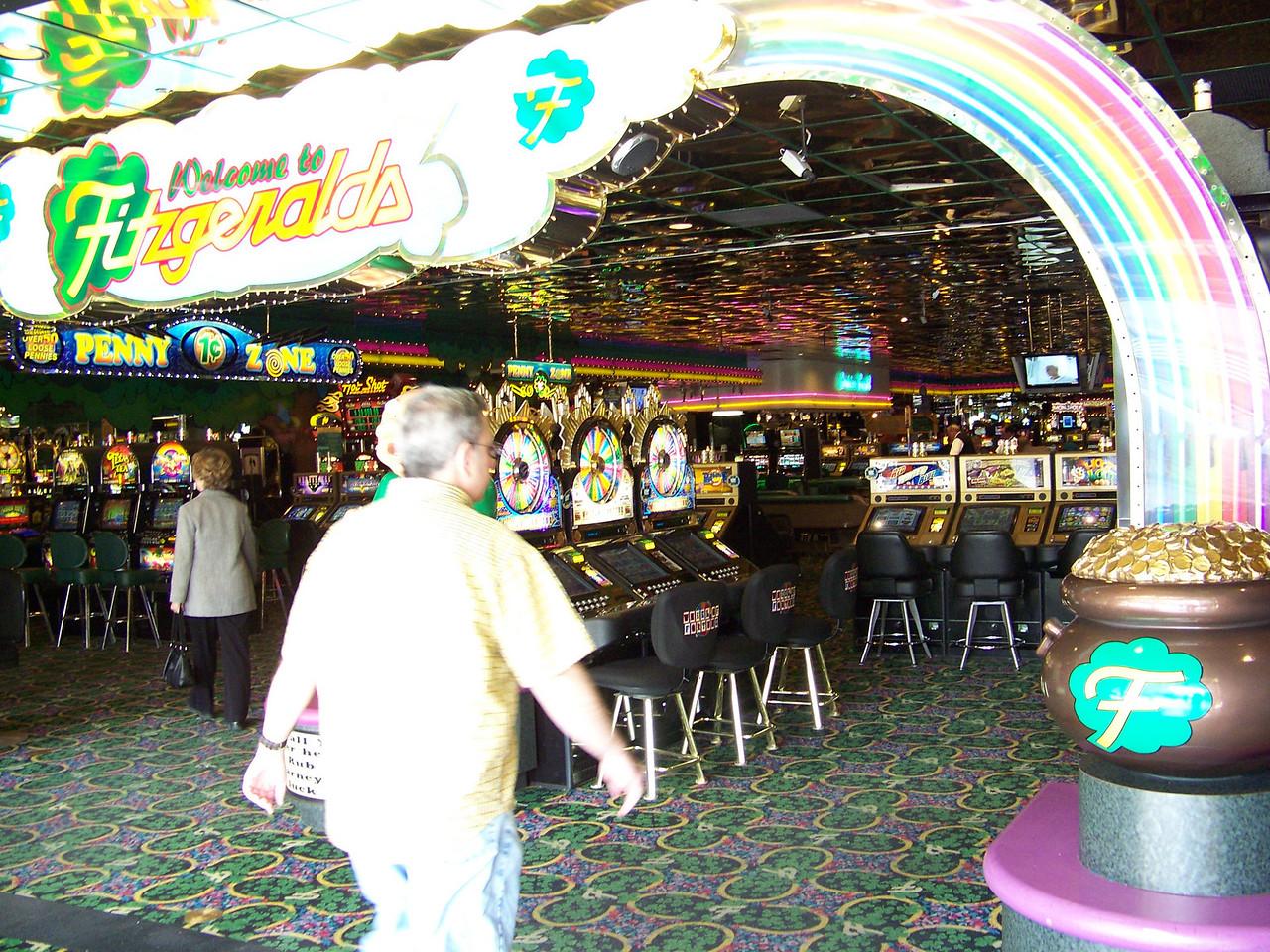 Entering Fitzgerald's casino.<br /> [Reno]