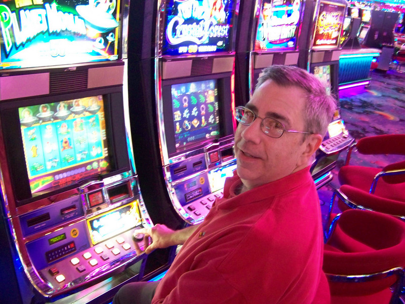 "Here's Dave playing ""Invaders from the Planet Moolah.""  Are you winning?<br /> [Reno - Peppermill Hotel]"