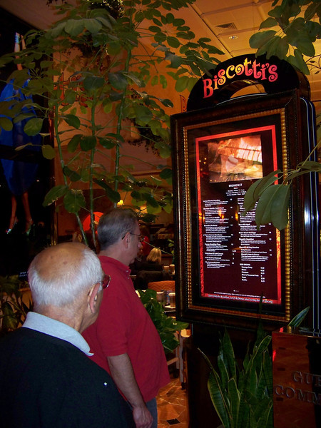 This time, however, we only looked at Biscotti's menu.  I definitely want to go back there on a future trip.<br /> [Reno - Peppermill Hotel]