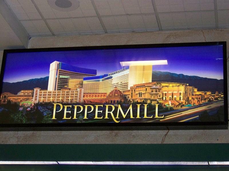 Next stop, the Peppermill!  (This is an advertisement that was posted at the airport.)<br /> [Reno]