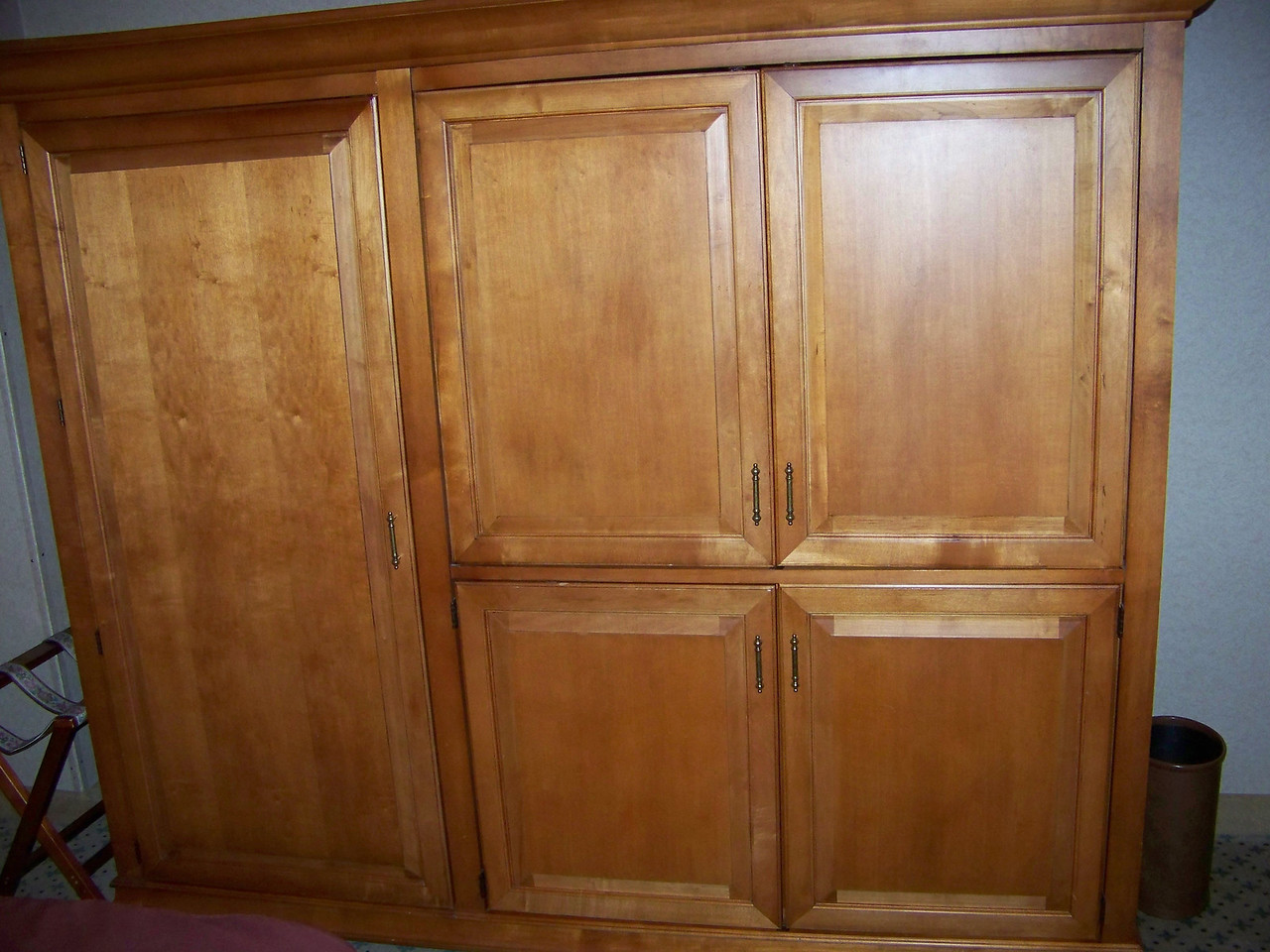 Harrah's east tower rooms include a very large, wooden armoire.<br /> [Reno]