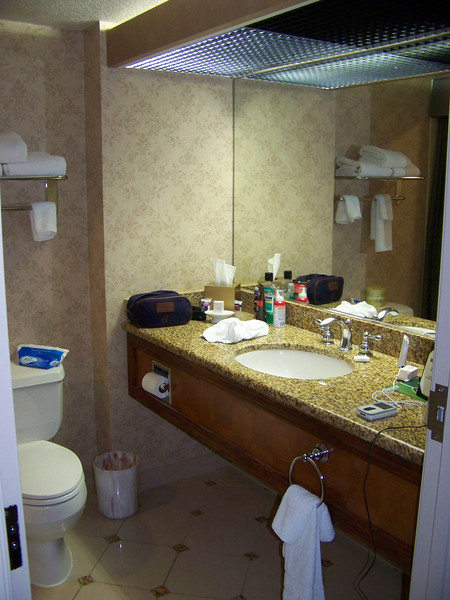 The bathroom in my east tower room at Harrah's.<br /> [Reno]