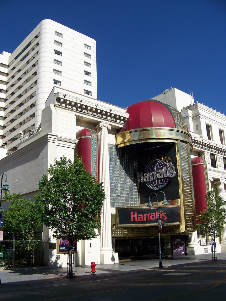 We took a stroll around downtown.  This is the Virginia Street exit from Harrah's west tower casino.<br /> [Reno]
