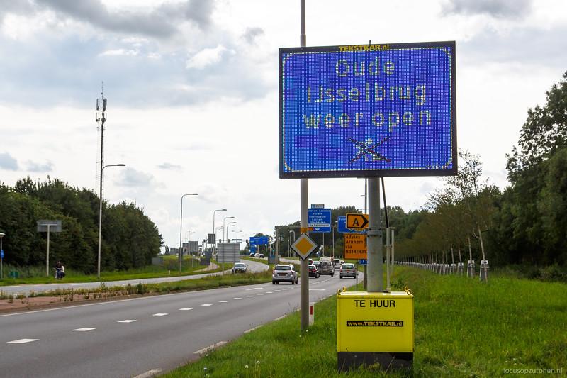 Oude IJsselbrug weer open
