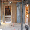 Looking out of bathrooms into master bedroom