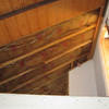 Standing in Noah's room looking up into his loft.  Railing and ladder removed but walls still in there.