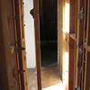 Looking through hallway closet into what used to be Sam's closet.  Sam's entrance into shared loft with Noah in back.