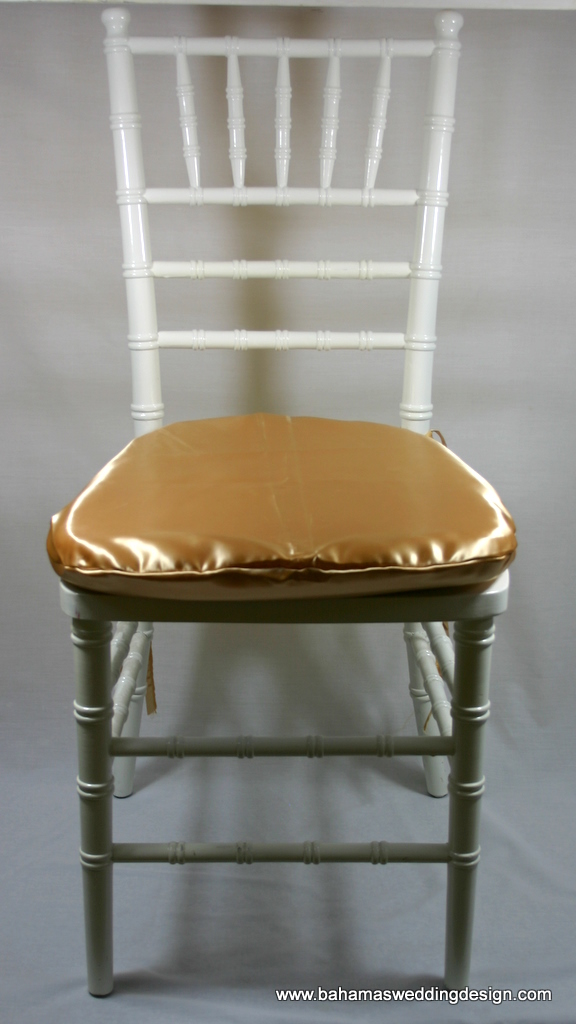 Satin Chair Pad Cover - Gold