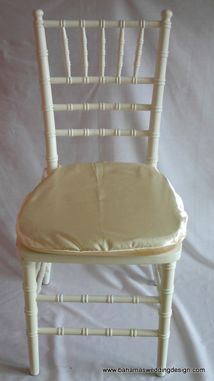 Satin Chair Pad Cover - Ivory