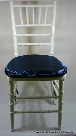 Satin Chair Pad Cover - Navy