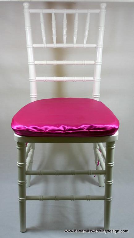 Satin Chair Pad Cover - Fuchsia