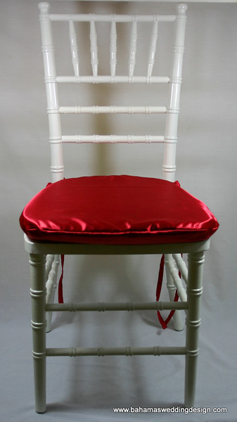 Satin Chair Pad Cover - Red