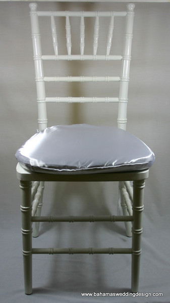 Satin Chair Pad Cover - White
