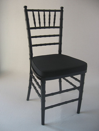 Black Chivari Chair (black chair pad included) CALL FOR PRICING & AVAILABILITY