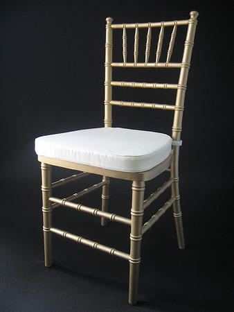 Gold Chivari Chair (ivory chair pad included) CALL FOR PRICING & AVAILABILITY