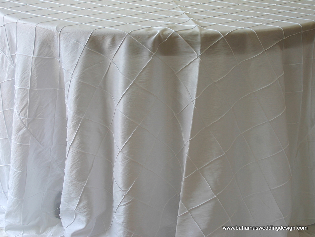 "4"" Pintuck Taffeta - White