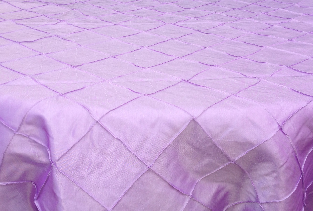 "4"" Pintuck Taffeta - Lavender Available Linens: 132"" Round"