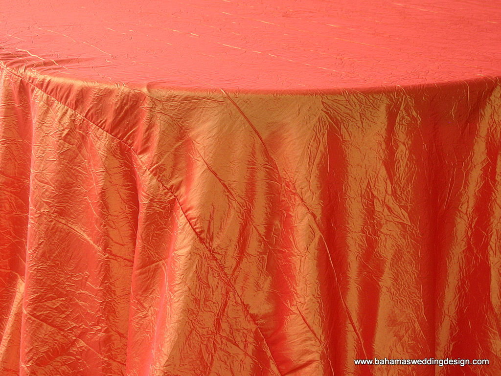 Crushed Taffeta - Tangerine