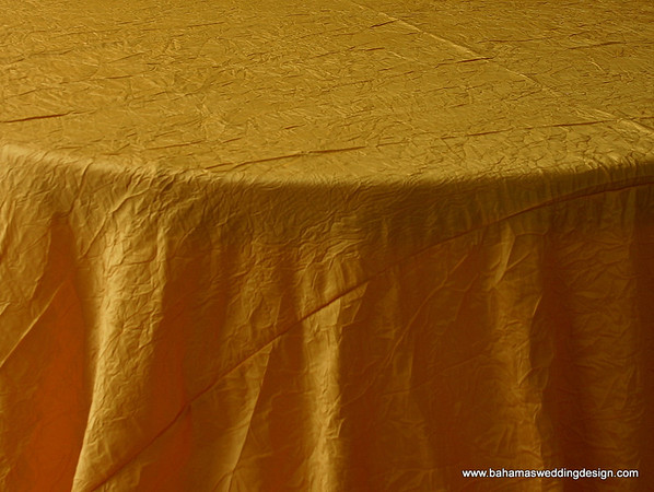"Crushed Taffeta - Bright Yellow Available Linens: 132"" Round"