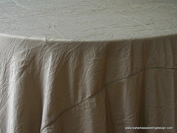 "Crushed Taffeta - Sage Available Linens: 120"" Round, Chair Tie"