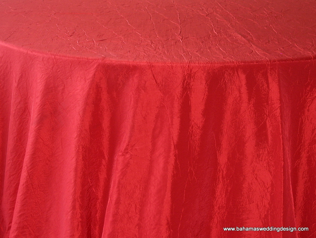 Crushed Taffeta - Red