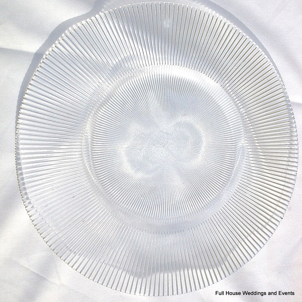 "14"" Sunburst Clear Glass Charger CALL FOR PRICING & AVAILABILITY"