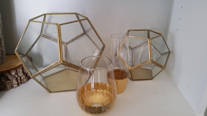 "Brass Geo Terranium (8x9"" & 6x7"")"