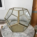 Gold Framed Geometric Terrarium 8.5 x 6