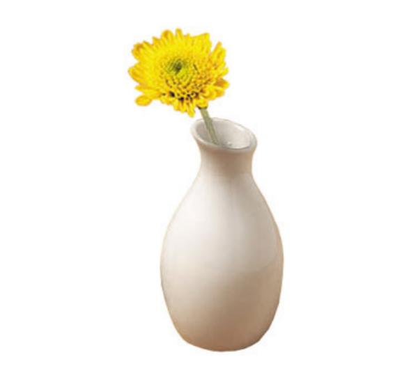"""We have (27) of these white ceramic bud vases.  Measurements are 3.78"""" H x 2"""" D"""