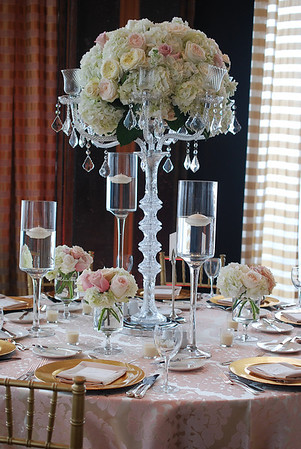 "The stemmed glass pedestal vases are 28"", 24"" & 20"".  They can be used together as a trio or separate.  I have approximately (20) of each size."