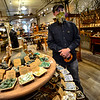 KRISTOPHER RADDER — BRATTLEBORO REFORMER<br /> Brian Robertshaw, owner of Beadniks, on Main Street in Brattleboro, Vt., opens his doors for the first time on Monday, May 18, 2020, after being closed because of the COVID-19 pandemic.