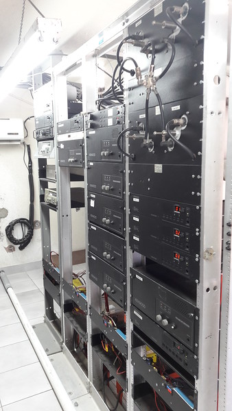 Right side of radio racks