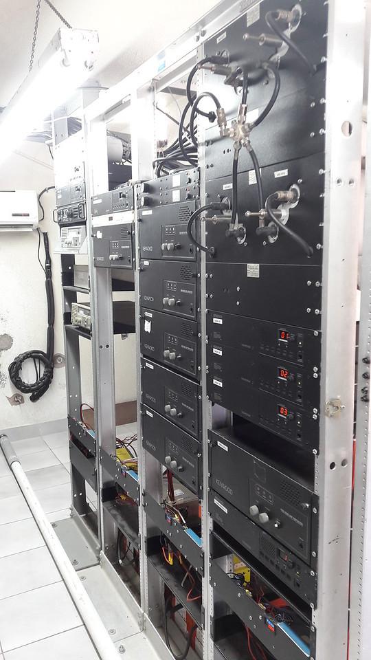 Right side of radio racks