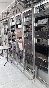 Left side of radio racks