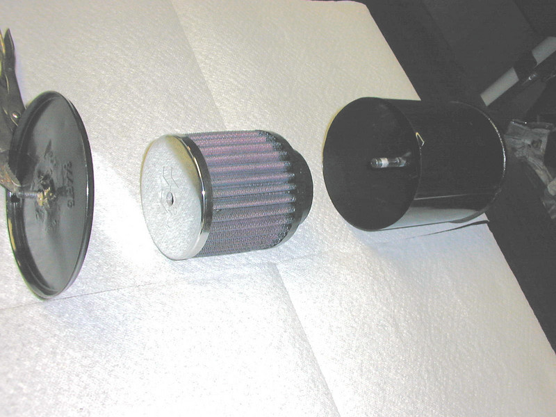 Air filter modification (to add modern filter)