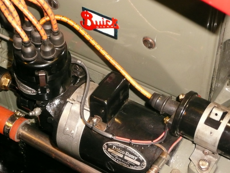 ELECTRONIC IGNITION:  4 of 4.  Clean looking inside distributor & neat wiring to coil.