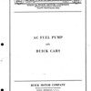 Fuel Pump Bulletin (No. 3 - Aug. 1/28) - Cover