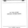 Fuel Pump Service Bulletin (No. 7 - Feb. 1/30) - Cover  (Note:  No page 2 in Bulletin)